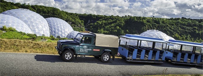 McDonald 4x4 Eden Project Electric Land Rover Defender