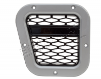 XS Side Wing Vent, Silver with Black Mesh, LH