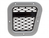 XS Side Wing Vent, Silver with Black Mesh, RH