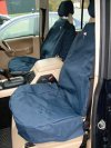 Waterproof Front Seat Covers Blue