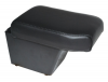 Arm Rest & Cubby Box in Black Eco Leather